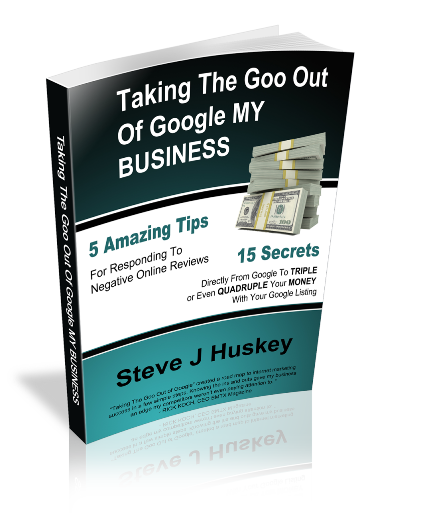 Goo Out Of Google My Business 3D eBook Marketing Consultant